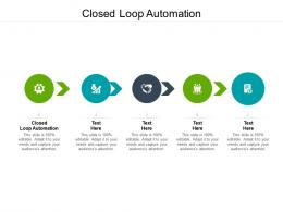 Closed Loop Automation Ppt Powerpoint Presentation Visual Aids Outline Cpb
