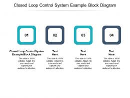 Closed Loop Control System Example Block Diagram Ppt Powerpoint Presentation Inspiration Infographics Cpb