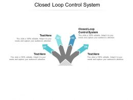 Closed Loop Control System Ppt Powerpoint Presentation Slides Mockup Cpb