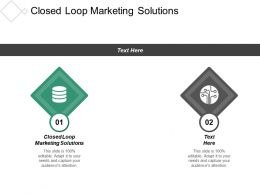 Closed Loop Marketing Solutions Ppt Powerpoint Presentation Infographics Clipart Images Cpb