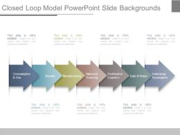 Closed Loop Model Powerpoint Slide Backgrounds