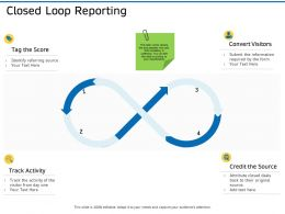 Closed Loop Reporting Ppt Powerpoint Presentation Diagram Graph Charts