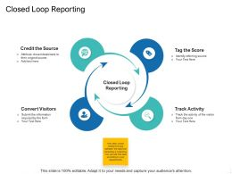 Closed Loop Reporting Ppt Powerpoint Presentation File Styles