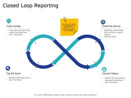 Closed Loop Reporting Visitor From Day Ppt Powerpoint Presentation Professional Icons