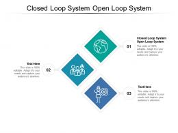 Closed Loop System Open Loop System Ppt Powerpoint Presentation Model Show Cpb