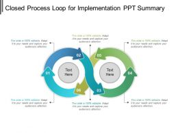 Closed Process Loop For Implementation Ppt Summary