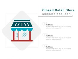 Closed Retail Store Marketplace Icon