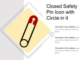 Closed Safety Pin Icon With Circle In It