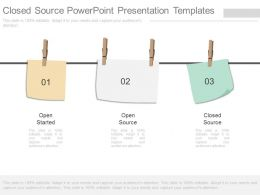 Closed Source Powerpoint Presentation Templates