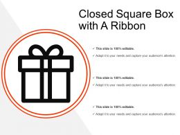 Closed Square Box With A Ribbon