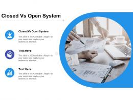 Closed Vs Open System Ppt Powerpoint Presentation Professional Model Cpb