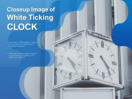 Closeup Image Of White Ticking Clock