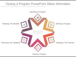 Closing A Program Powerpoint Slides Information