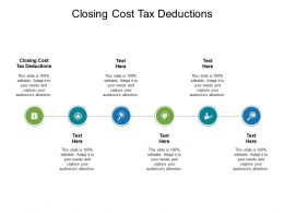Closing Cost Tax Deductions Ppt Powerpoint Presentation Slides Pictures Cpb