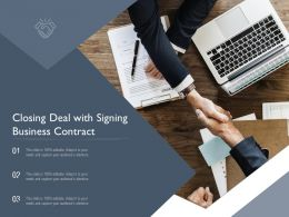 Closing Deal With Signing Business Contract
