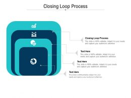 Closing Loop Process Ppt Powerpoint Presentation Pictures Graphic Images Cpb