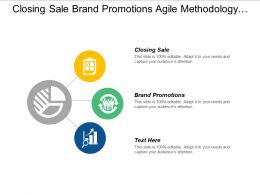 Closing Sale Brand Promotions Agile Methodology Pricing Technique