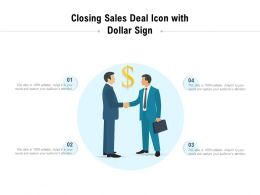 Closing Sales Deal Icon With Dollar Sign