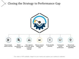 Closing The Strategy To Performance Gap Clearly Identify Priorities Ppt Slides