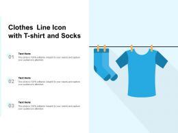 Clothes Line Icon With T Shirt And Socks