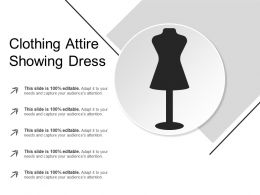 Clothing Attire Showing Dress