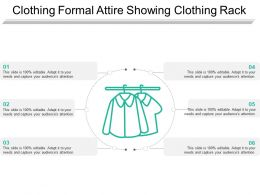 Clothing Formal Attire Showing Clothing Rack
