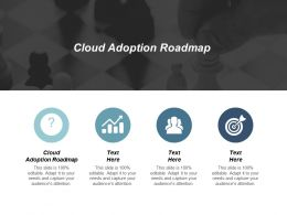 Cloud Adoption Roadmap Ppt Powerpoint Presentation Gallery File Formats Cpb