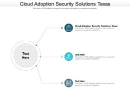 Cloud Adoption Security Solutions Texas Ppt Powerpoint Presentation Styles Icons Cpb