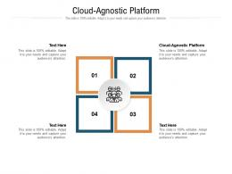 Cloud Agnostic Platform Ppt Powerpoint Presentation Layouts Format Cpb