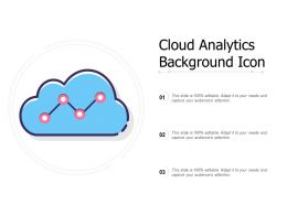 Cloud Analytics Background Icon