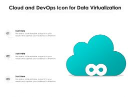 Cloud And Devops Icon For Data Virtualization