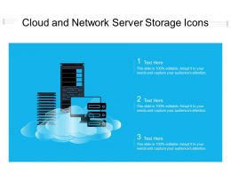 Cloud And Network Server Storage Icons