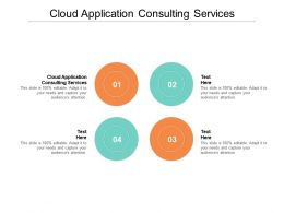 Cloud Application Consulting Services Ppt Powerpoint Presentation Slides Example Cpb