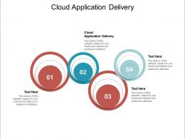 Cloud Application Delivery Ppt Powerpoint Presentation Inspiration Introduction Cpb