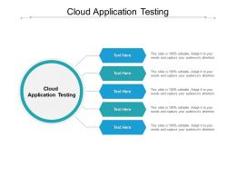 Cloud Application Testing Ppt Powerpoint Presentation File Styles Cpb