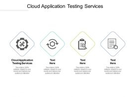 Cloud Application Testing Services Ppt Powerpoint Presentation Summary Infographic Template Cpb