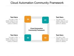 Cloud Automation Community Framework Ppt Powerpoint Presentation Professional Slides Cpb