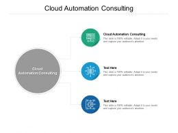 Cloud Automation Consulting Ppt Powerpoint Presentation File Slide Cpb