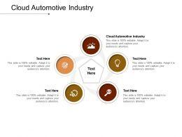 Cloud Automotive Industry Ppt Powerpoint Presentation Slides Portfolio Cpb