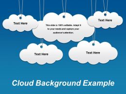 Cloud Background Example Ppt Icon