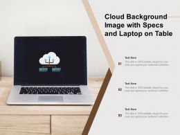 Cloud Background Image With Specs And Laptop On Table
