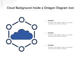 Cloud Background Inside A Octagon Diagram Icon
