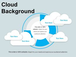 Cloud Background PPT Infographics
