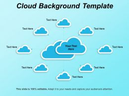 Cloud Background Template PPT Sample
