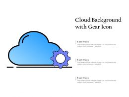 Cloud Background With Gear Icon