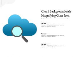 Cloud Background With Magnifying Glass Icon