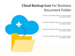 Cloud Backup Icon For Business Document Folder