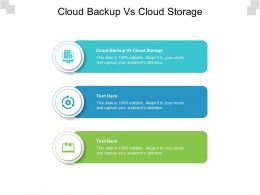 Cloud Backup Vs Cloud Storage Ppt Powerpoint Presentation Gallery Slide Download Cpb