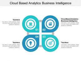 Cloud Based Analytics Business Intelligence Ppt Powerpoint Presentation Influencers Cpb