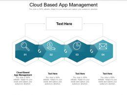 Cloud Based App Management Ppt Powerpoint Presentation File Smartart Cpb